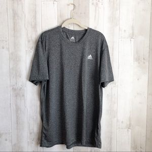 [Adidas] Gray Climalite Short Sleeve Workout Tee